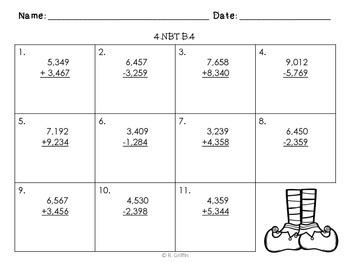 Merry Math with QR Codes Task Cards & Printables (NBT4-6: Add., Sub, Mult., Div)