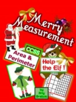 Merry Measurement - CCSS aligned Area & Perimeter Problem
