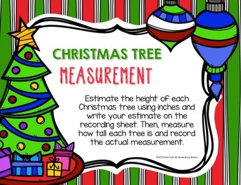 Merry Christmas Measurement {Inches & Centimeters}