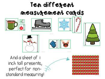 Christmas themed Non-standard measurement center activity