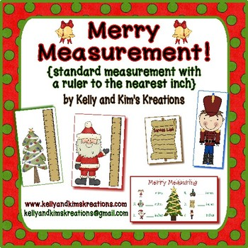 Merry Measurement!  {standard measurement with the ruler to the nearest inch}