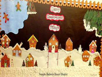 Merry Measurement Village (Gingerbread Math & Writing Craftivity)