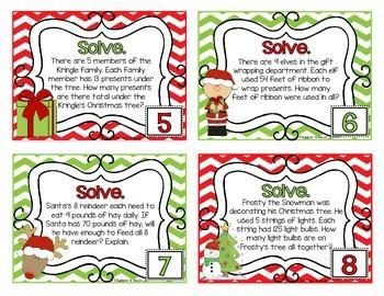 Merry, Merry Multiplication ~ Task Cards {4.NBT.5, 4.OA.3, 3.OA.3}