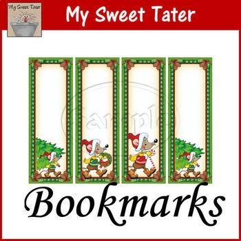 Merry Mice Bookmark Printable