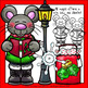 Merry Mice Christmas Clip Art Set - Chirp Graphics