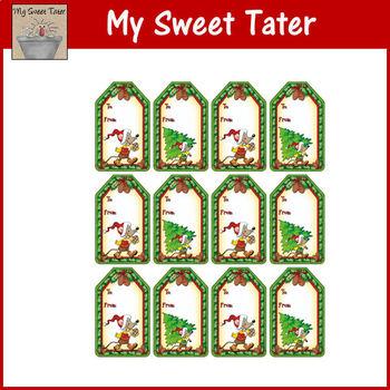 Merry Mice Christmas Gift Tags