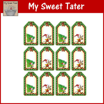 Merry Mice Christmas Gift Tags Blank
