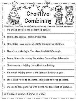 Merry Mix of Winter Holiday Themed Literacy & Math Skills Common Core Activities