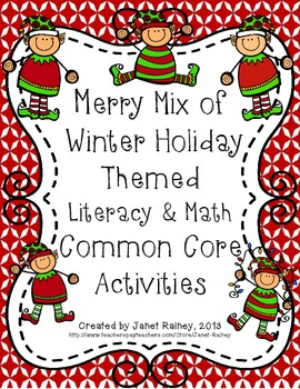 Merry Mix of Winter Holiday Themed Literacy & Math Skills