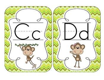 Merry Monkeys Alphabet Cards