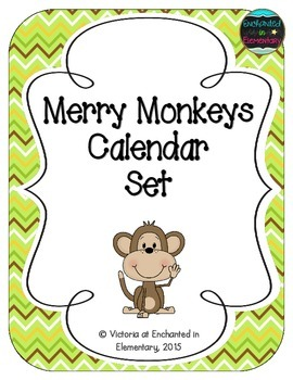 Merry Monkeys Calendar Numbers, Months and Days