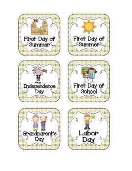 Merry Monkeys Holiday Calendar Pieces