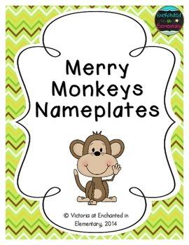 Merry Monkeys Nameplates