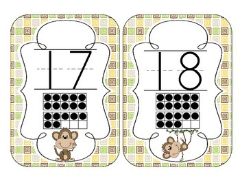Merry Monkeys Number Cards 1-20