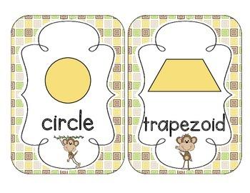 Merry Monkeys Shape Cards