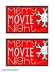 MOVIE NIGHT GIFT TAGS FREEBIE for all grades