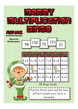 Merry Multiplication Bingo