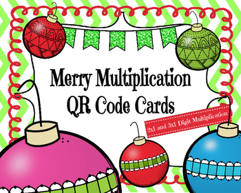 Merry Multiplication Task Cards (2x1 and 3x1 Digit)
