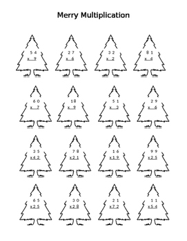 Merry Multiplication - Two Digit Multiplication