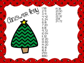 Merry Multiplication Word Problems Scoot/Task Cards