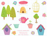 Merry Spring Clipart Set