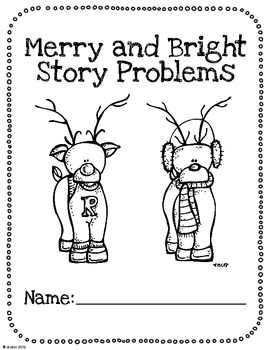 Merry and Bright Christmas Math Story Problems