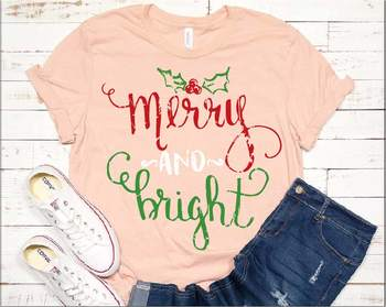 Merry and Bright Christmas SVG grunge Christmas Cut Files clipart 955S