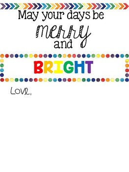 Merry and Bright Gift Tag/ Card
