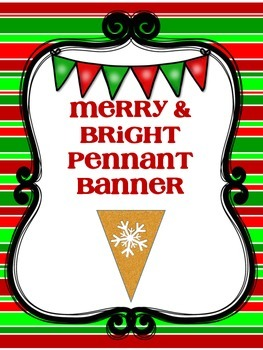 Merry and Bright Pennant Banner
