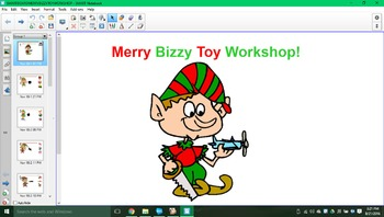 Merry bizzy toy workshop SMARTboard activity!!!