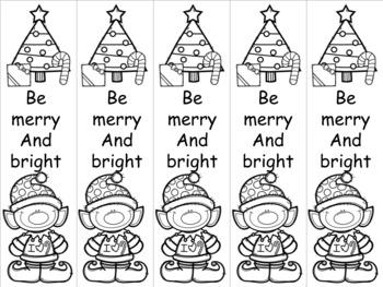 Merry elf bookmark