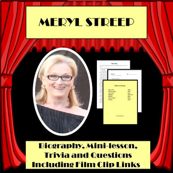 FAMOUS ARTISTS: MERYL STREEP ACTRESS  (FORMAT ONE)