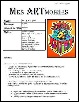 Mes ARTmoiries, arts plastiques, histoire, armoiries, blasons