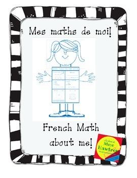 Mes Maths de Moi - French Math about Me.