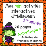 Mes activités interactives d'Halloween - 1re année