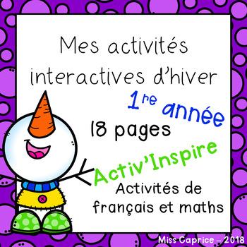 Mes activités interactives d'hiver - 1re année