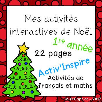 Mes activités interactives de Noël - 1re année