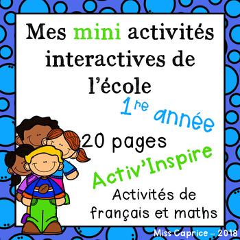 Mes activités interactives de l'école - 1re année