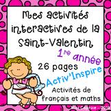 Mes activités interactives de la Saint-Valentin - 1re année