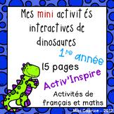 Mes activités interactives sur les dinosaures - 1re année