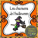 Halloween songs in French! Teach French, Reading, Rhyming, and Sight Words.
