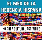 Mes de la Herencia Hispana en la clase de español - Hispanic Heritage Month
