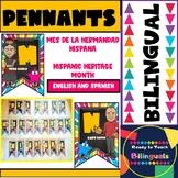 Mes de la Hermandad Hispana - Color Pennants or Posters - Bilingual