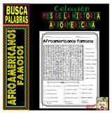 Mes de la Historia Afroamericana - Black History Month in Spanish- Word search