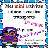 Mes mini activités interactives sur les transports - 1re année