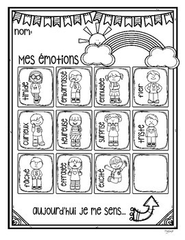 Mes émotions - French Posters and Printables