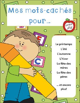 Mes mots cachés pour... (My Word Search for...) - French Word Search Puzzles