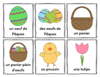 Mes mots pour Pâques (My Words for Easter) - French Vocabulary Cards