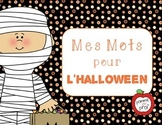 Mes mots pour l'Halloween (My Words for Halloween) - French Vocabulary Cards