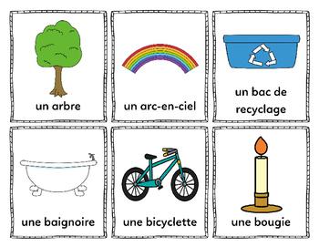 Mes mots pour le Jour de la Terre (My Earth Day Words) - French Vocabulary Cards